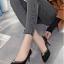 คัชชู ด้านหน้าทรงวี เก็บหน้าเท้า G-1354-BLK [สีดำ] thumbnail 3