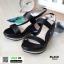 รองเท้าแตะพียู ส้นโฟม รัดส้น PU6101-BLK [สีดำ] thumbnail 2