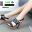 รองเท้าส้นสูงเสริมหน้า ส้น pu ลายไม้ 318311-BLK [สีดำ] thumbnail 3