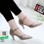รองเท้าส้นสูง ฉลุลาย รัดข้อ 10200-กากี [สีกากี] thumbnail 1