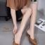 รองเท้าหัวแหลมเปิดส้น หน้าแต่งเข็มขัด A026-0505-TAN [สีแทน] thumbnail 2