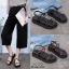รองเท้าแตะสายไขว้ พื้นหนา 1372-BLK [สีดำ] thumbnail 4
