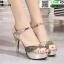 รองเท้าส้นสูงรัดข้อเปิดท้าย ST208-GLD [สีทอง] thumbnail 2