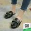 รองเท้าส้นเตี้ยสีดำ สไตล์กุชชี่ (สีดำ ) thumbnail 1