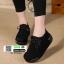 รองเท้าผ้าใบสไตล์เกาหลี 99-63-ดำ [สีดำ] thumbnail 3