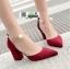 รองเท้าส้นสูงหัวแหลมนำเข้า HXY-0003-RED [สีแดง] thumbnail 4