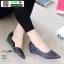 รองเท้าคัชชูเปิดข้าง เสริมส้น 1 นิ้ว 628-1-ดำ [สีดำ] thumbnail 1