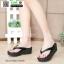 รองเท้าส้นเตารีดเนื้อโฟมใส่สบาย M1536-BLK [สีดำ] thumbnail 3
