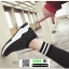 รองเท้าผ้าใบทรงสวม ทรงยอดฮิต F02-SIL [สีเงิน] thumbnail 4