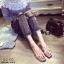 รองเท้าแตะเปิดส้น สไตล์ H ฉลุลาย G-1415-PNK (สีชมพู) thumbnail 4