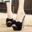 รองเท้าส้นสูงแบบสวม ST1906-BLK [สีดำ] thumbnail 3