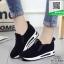 รองเท้าผ้าใบไร้เชือกสีดำ แนวสตรีท (สีดำ ) thumbnail 3