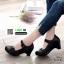รองเท้าคัชชู หนังแกะงานหนังแท้ 100% 9212-82-ดำ [สีดำ] thumbnail 1