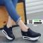 รองเท้าผ้าใบเสริมส้นนำเข้า สไตล์เกาหลี B38-BLACK [สีดำ] thumbnail 2