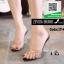 รองเท้าส้นสูงเปิดส้นสีดำ แบบสวม พลาสติกนิ่มไม่บาดเท้า (สีดำ )