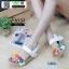 รองเท้าเพื่อสุขภาพ แบบรัดส้น แต่งดอกไม้ F1031-WHT [สีขาว] thumbnail 2
