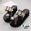 รองเท้านำเข้าคุณภาพ ส้นเตารีดสวยเกร๋ 0888-BLACK [สีดำ] thumbnail 5