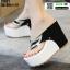 รองเท้าหูคีบส้นเตารีด ST821-BLK2 [สีดำ] thumbnail 3