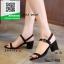 รองเท้าส้นตันรัดส้นสีดำ สไตล์เกาหลี งานนำเข้า (สีดำ ) thumbnail 1