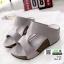 รองเท้าส้นเตารีด หนัง pu 961-57-เทา [สีเทา] thumbnail 2