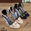รองเท้าส้นเหลี่ยมรัดข้อหุ้มส้น 17-2209-BLK [สีดำ] thumbnail 4