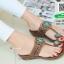 รองเท้าแตะแฟชั่นสีน้ำตาล Flowery Sandals (สีน้ำตาล ) thumbnail 3