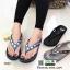รองเท้าแตะเพื่อสุขภาพ คีบ ติดพลอยสี่เหลี่ยม YT122-น้ำเงิน [สีน้ำเงิน] thumbnail 4