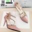 รองเท้าคัชชูรัดข้อหุ้มส้นเปิดข้าง ST8982-PNK [สีชมพู] thumbnail 3