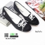 รองเท้าผ้าใบทรงสปอร์ตน่ารักๆ 1435-BLACK [สีดำ ] thumbnail 2