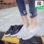 รองเท้าผ้าใบแบบเปิดส้น ST1-BLK [สีดำ] thumbnail 4