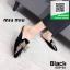 รองเท้าส้นเตี้ยเปิดส้นสีดำ ทรงสลิปเปอร์ Style miu miu (สีดำ ) thumbnail 3
