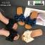 รองเท้าแตะผ้าซาติน แต่งโบว์ G-1409-BLU [สีน้ำเงิน] thumbnail 3