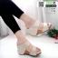 รองเท้าเตารีด Wedge shoe 2 ตอนหุ้มส้น 1146-ครีม [สีครีม] thumbnail 1