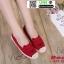รองเท้าผ้าใบแคนวาส งานปักน่ารัก L-345-380-RED [สีแดง] thumbnail 2