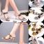 รองเท้าส้นเข็มเปิดส้นสีเงิน สไตล์แบรนด์ Patricia (สีเงิน ) thumbnail 6