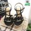 รองเท้าเตารีด แต่งหน้ามุกสีทอง 15198-BLACK [สีดำ] thumbnail 2