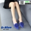 รองเท้าส้นเตี้ย แบบสวม เปิดส้น B6-608-DBLU [สีน้ำเงินเข้ม]