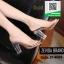 รองเท้าส้นสูงเปิดส้นสีชมพู แบบสวม พลาสติกนิ่มไม่บาดเท้า (สีชมพู ) thumbnail 2