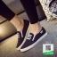 รองเท้าผ้าใบทรงสวมไม่ต้องผูกเชือก 237-BLK [สีดำ] thumbnail 1