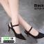 รองเท้าส้นสูงเปิดส้น รัดข้อ B3715-11-BLK [สีดำ] thumbnail 2