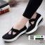 รองเท้าผ้าใบ เพื่อสุขภาพกันลื่น 46016-ดำ [สีดำ] thumbnail 2
