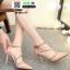 รองเท้าคัชชูรัดข้อหุ้มส้นเปิดข้าง ST8982-PNK [สีชมพู] thumbnail 2