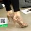รองเท้าส้นสูง ฉลุลาย G711727-KHA [สีกากึ] thumbnail 4