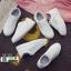 รองเท้าผ้าใบหนัง pu ปักลายใบไม้ SG-170-SIL [สีเงิน] thumbnail 4
