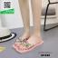 รองเท้าแตะแฟชั่นสีชมพู หน้าสวมพลาสติกใสนิ่ม (สีชมพู )