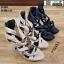รองเท้าส้นสูงหุ้มข้อ วัสดุผ้านุ่ม 17-2317-BLK [สีดำ] thumbnail 5