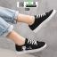 รองเท้าผ้าใบ นำเข้า CAT cute korea style 1001-BLACK [สีดำ]