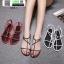 รองเท้าแตะผู้หญิงรัดส้น Celine sandals C55-1-BLK [สีดำ] thumbnail 1
