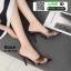 รองเท้าส้นสูงหัวแหลมแหลม ใสเปิดส้น H178-A12-BLK [สีดำ] thumbnail 2