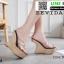 รองเท้าส้นเตารีด สไตล์เกาหลี 18-1403-BLK [สีดำ] thumbnail 3